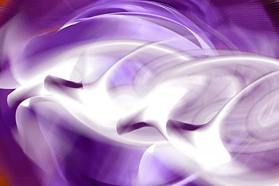 Digital Art - Purple Flight - Abstract by rd Erickson