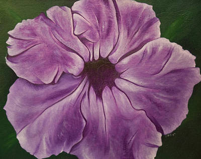Wall Art - Painting - Purple Floral #1 by Stephen J DiRienzo