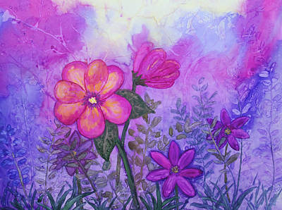 Painting - Purple Floral Fantasy by Patricia Beebe