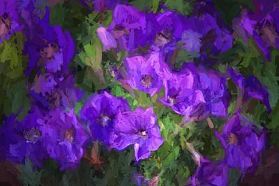 Purple Floral Painting Original by Linda Phelps