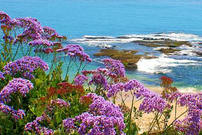 Photograph - Purple Flower Coastline by Jane Girardot