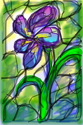 Digital Art - Purple Flower by Rae Chichilnitsky