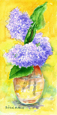 Painting - Purple Flowers by Barbel Amos