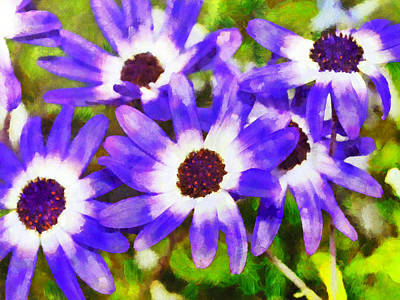 Digital Art - Purple Flowers by Digital Photographic Arts