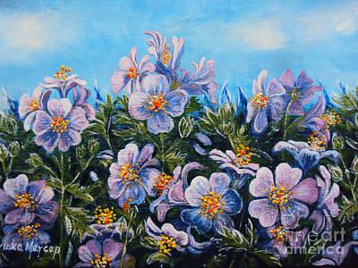 Purple Flowers Art Print by Drinka Mercep