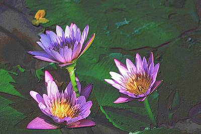 Office Plants Drawing - Purple Flowers In Colored Pencil by Richard Zentner