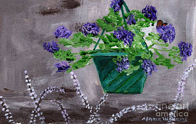 Painting - Purple Flowers by Maria Williams