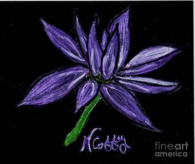 Pastel - Purple Flowers by Neil Stuart Coffey