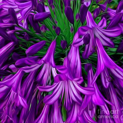 Purple Flowers Digital Art - Purple Flowers by Phill Petrovic