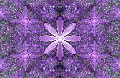 Digital Art - Purple Flowers by Sandy Keeton