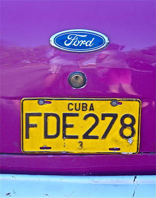 Photograph - Purple Ford by Kim Pippinger