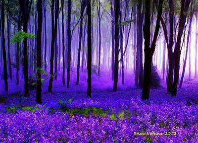 Purple Forest Art Print by Bruce Nutting
