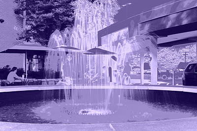Photograph - Purple Fountain by Anne Barkley