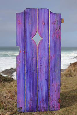 Purple Gateway To The Sea  Art Print by Asha Carolyn Young