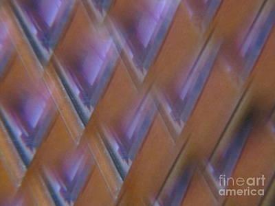 Sea Glass Drawing - Purple Geometry - Abstract by Tara  Shalton