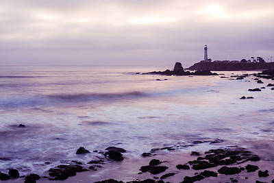 Photograph - Purple Glow At Pigeon Point Lighthouse by Priya Ghose