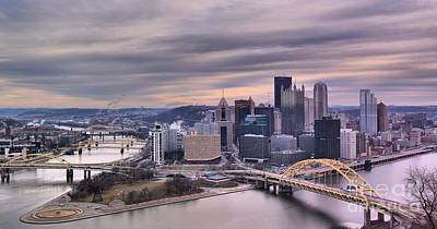 Photograph - Purple Glow Over Pittsburgh by Adam Jewell