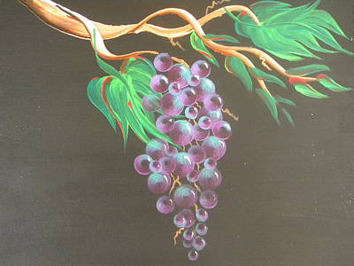 California Vineyard Painting - Purple Grapes 2 by Eric Johansen