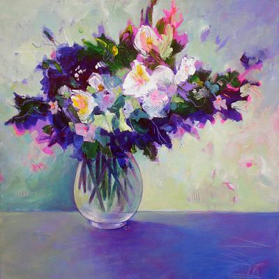 Painting - Purple Green Posy by Susanne Clark
