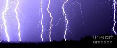 Purple Rain Lightning Art Print