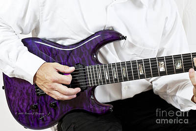 Photograph - Purple Guitar by Richard J Thompson