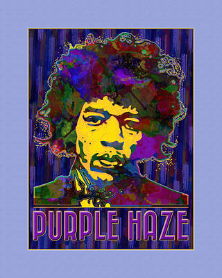 Vector Painting - Purple Haze by Gary Grayson