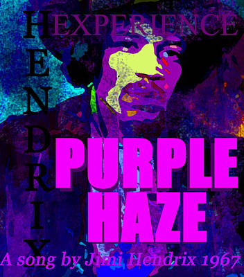 Painting - Purple Haze Jh 1967 by David Lee Thompson