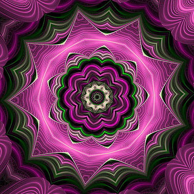 Purple Haze Kaleidoscope Art Print