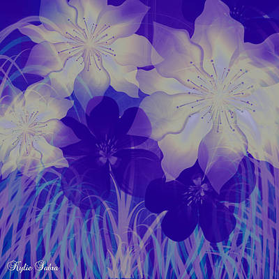 Digital Art - Purple Haze by Kylie Sabra