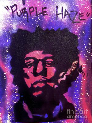 First Amendment Painting - Purple Hazed by Tony B Conscious