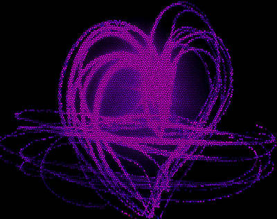 Digital Art - Purple Heart by Aya Murrells