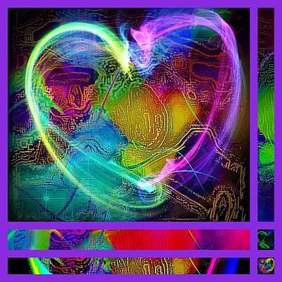 Etc. Mixed Media - Purple Heart  by HollyWood Creation By linda zanini