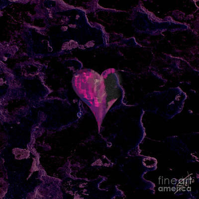 Dating Digital Art - Purple Heart by Stelios Kleanthous