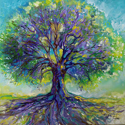 Purple Heart Tree Of Life Art Print