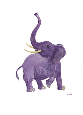 Painting - Purple Heffalump by Cynda Warren Joyce