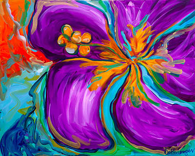Purple Hibiscus Art Print by Beth Cooper