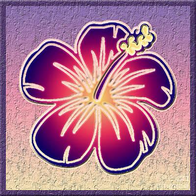 Blooming Digital Art - Purple Hibiscus by Gaspar Avila