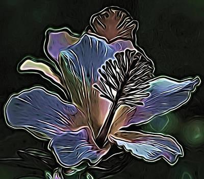 Mixed Media - Purple Hibiscus by Pamela Walton