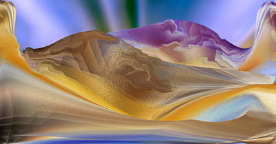 Digital Art - Purple Hill Landscape by rd Erickson