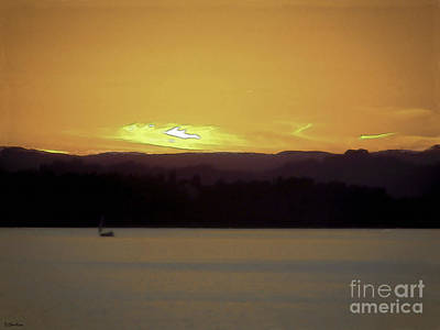 Digital Art - Purple Hills Sunset by Debra Chmelina