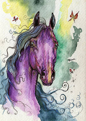 Purple Horse Original by Angel  Tarantella