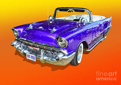 Photograph - Purple Hot Rod by Anthony Sell