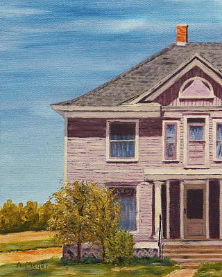 Painting - Purple House On The Prairie by Alan Mager