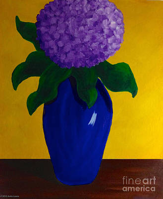 Painting - Purple Hydrangea by Anita Lewis