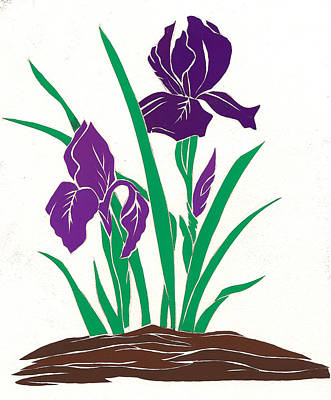 Mixed Media - Purple Iris by Martha Rucker