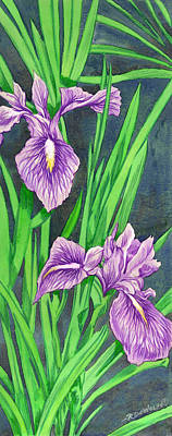 Painting - Purple Iris by Richard De Wolfe