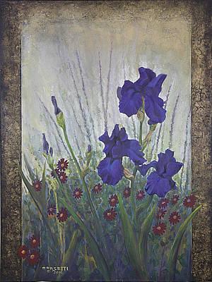 Purple Iris Art Print by Rob Corsetti