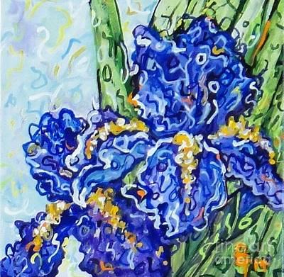 Painting - Purple Irises by Deborah Glasgow