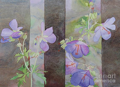 Painting - Purple Ivy Geranium by Laurel Best