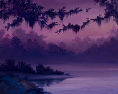 Amazon Jungle Painting - Purple Jungle by James Christopher Hill